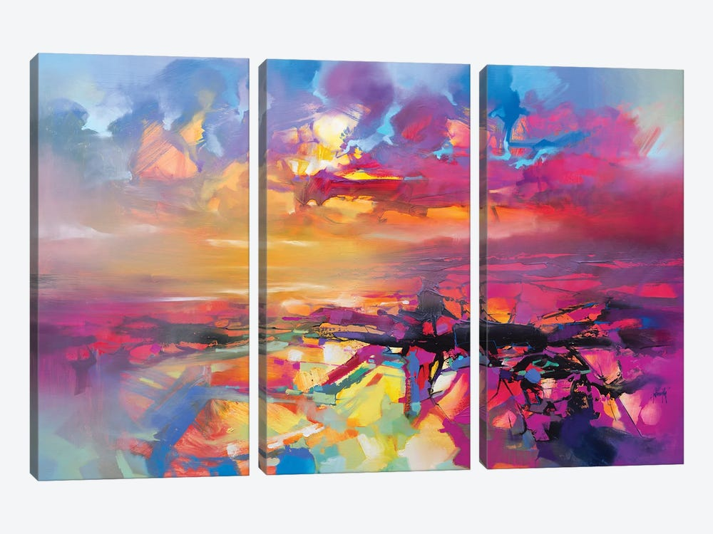 Electric Universe by Scott Naismith 3-piece Canvas Print