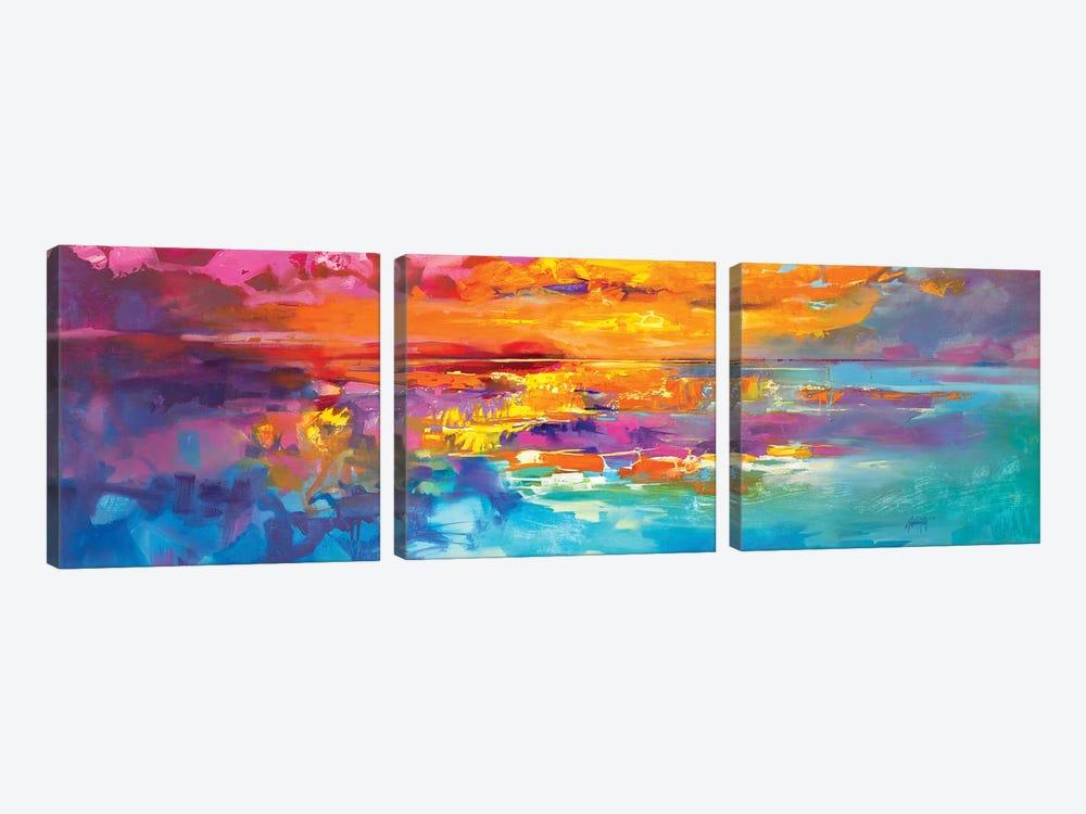 Spectrum Sunrise by Scott Naismith 3-piece Canvas Art Print