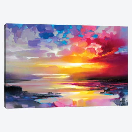 Low Tide Sunset Canvas Print #SNH191} by Scott Naismith Canvas Wall Art