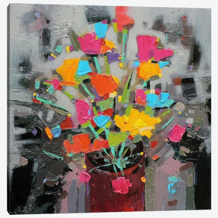 Bouquet of Colour Canvas Print #SNH29} by Scott Naismith Canvas Artwork