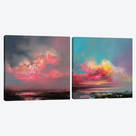 Cumulus Consonance Diptych Canvas Print Set #SNH2HSET001} by Scott Naismith Canvas Wall Art