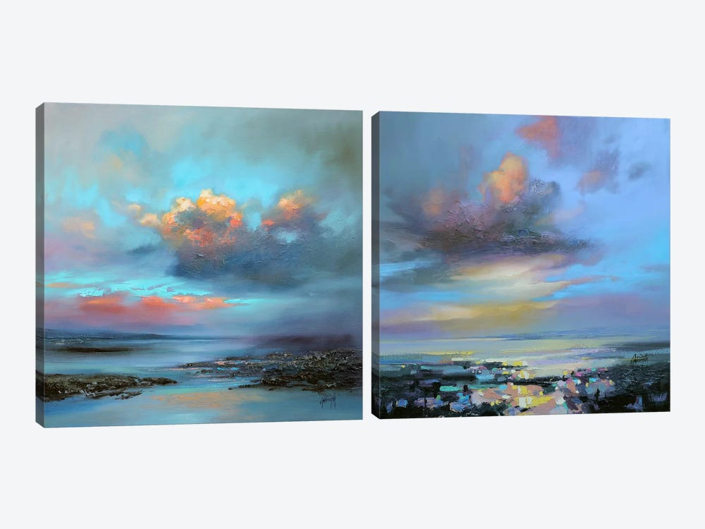 Hebridean Light Diptych by Scott Naismith 2-piece Canvas Artwork