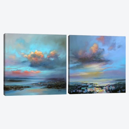 Hebridean Light Diptych Canvas Print Set #SNH2HSET003} by Scott Naismith Canvas Wall Art