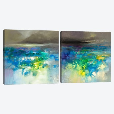 Fluid Dynamics Diptych Canvas Print Set #SNH2HSET004} by Scott Naismith Canvas Art Print
