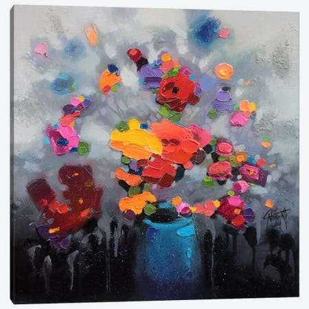 Bouquet I 3-Piece Canvas #SNH30} by Scott Naismith Canvas Art Print