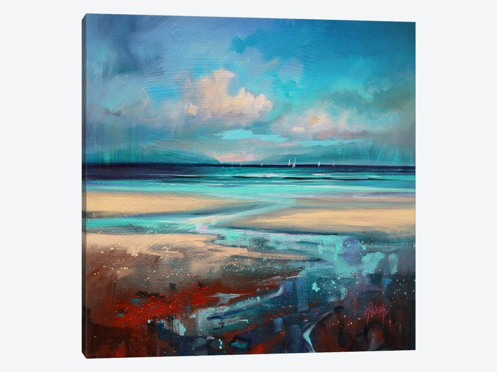 Cyan Sailing by Scott Naismith 1-piece Canvas Artwork