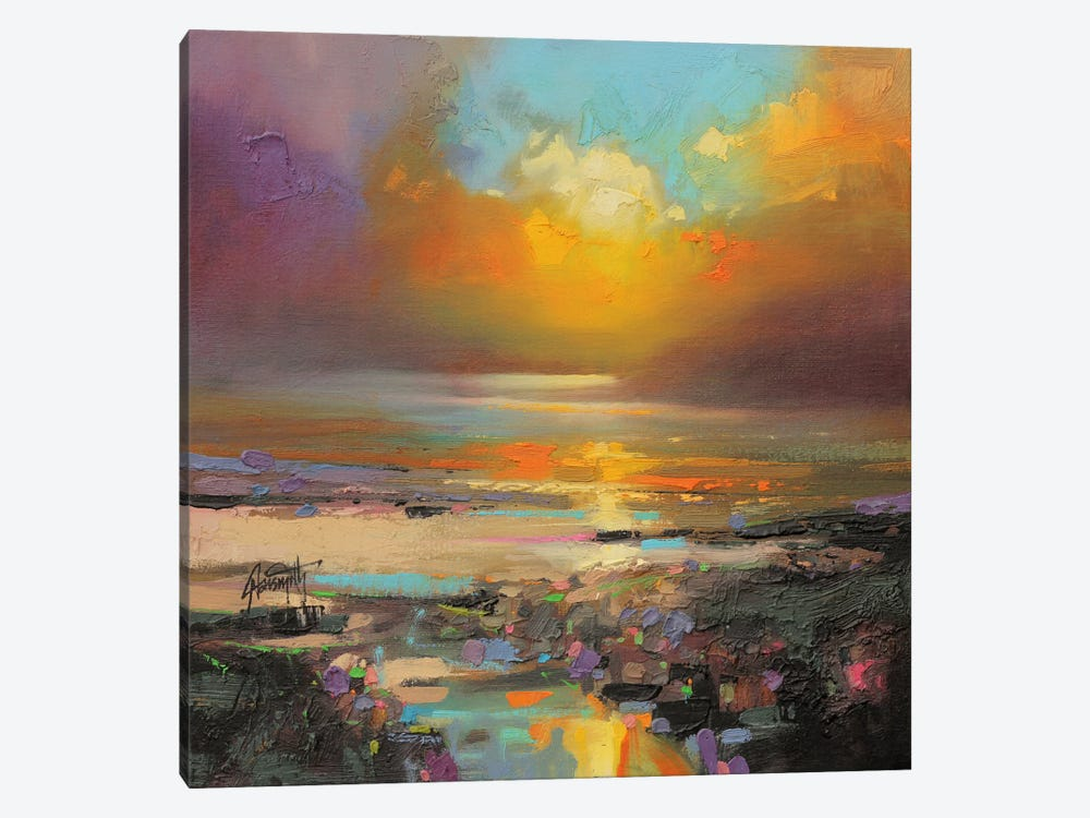 Golden Light 1-piece Canvas Wall Art