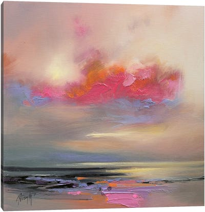 Magenta Cloud Canvas Art Print