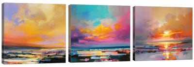 Diminuendo Sky Triptych Canvas Art Print