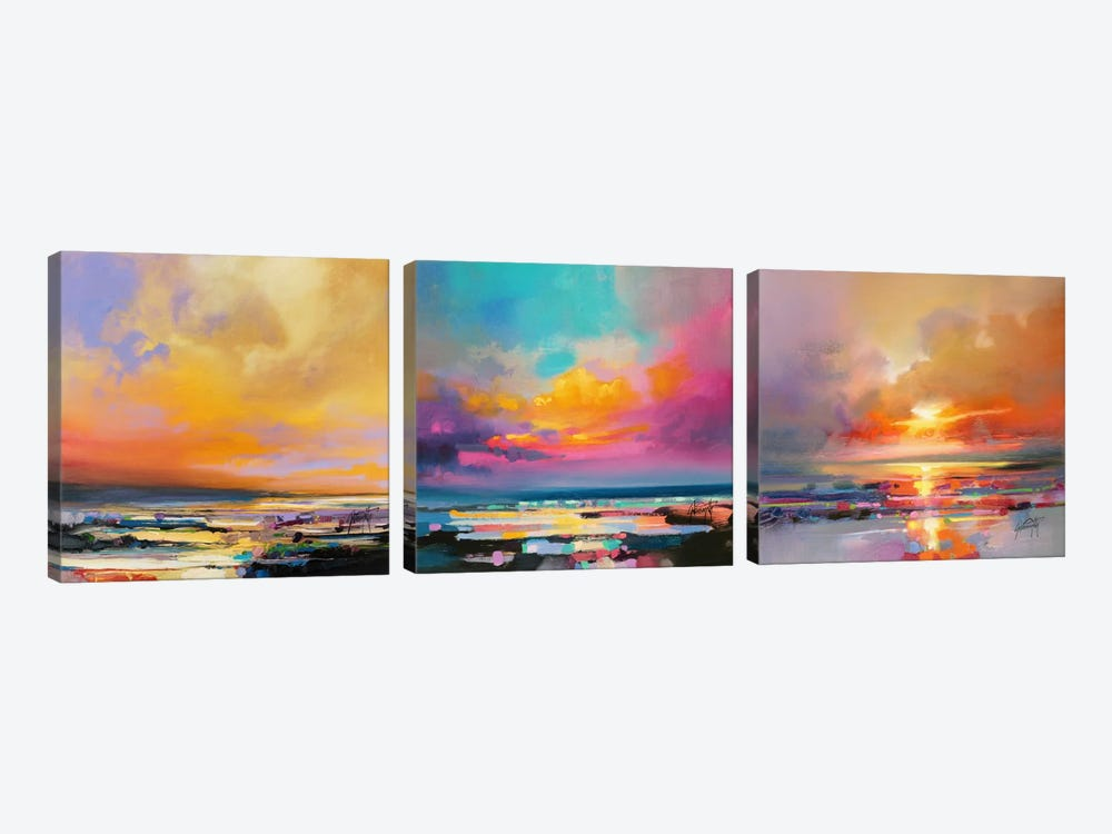 Diminuendo Sky Triptych by Scott Naismith 3-piece Canvas Art