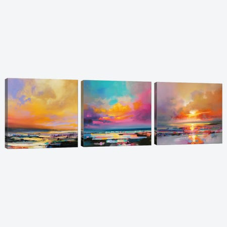 Diminuendo Sky Triptych Canvas Print Set #SNH3HSET002} by Scott Naismith Canvas Art