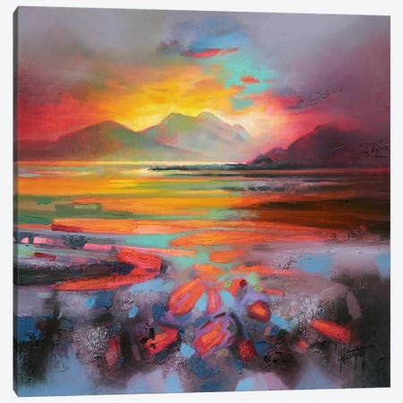 Loch Nevis Canvas Print #SNH40} by Scott Naismith Canvas Wall Art