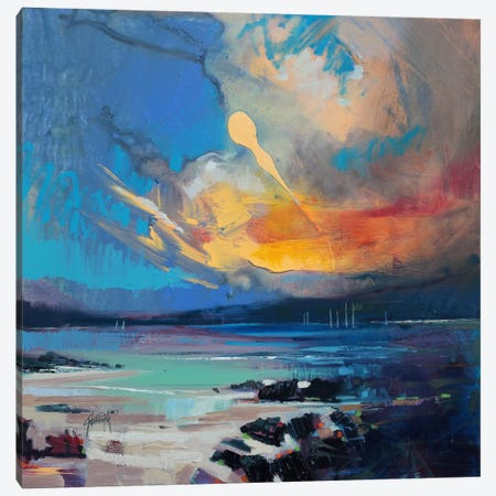 Blustery Sky Hebrides Canvas Print #SNH48} by Scott Naismith Canvas Wall Art