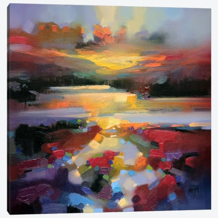 Glen Spean Red Canvas Print #SNH49} by Scott Naismith Canvas Artwork