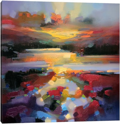 Glen Spean Red Canvas Print #SNH49