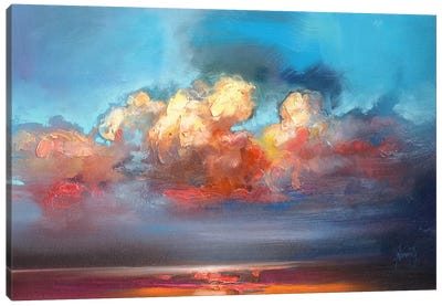 Vermillion Cumulus  Canvas Art Print