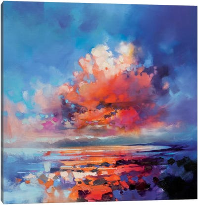 Cluster Cloud Canvas Print #SNH65
