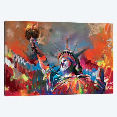 Statue of Liberty Canvas Print #SNH70} by Scott Naismith Canvas Print