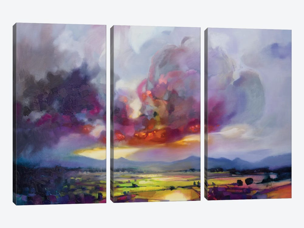 Bulk Modulus by Scott Naismith 3-piece Canvas Artwork