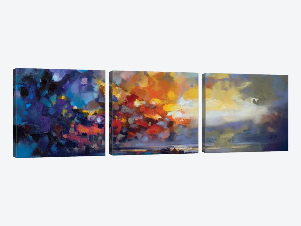 Molecular Light by Scott Naismith 3-piece Canvas Artwork