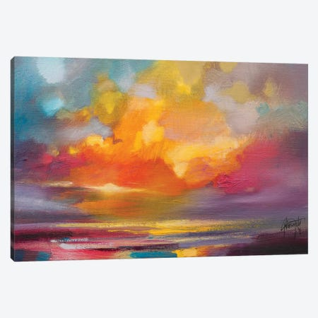 Sunset Canvas Print #SNH79} by Scott Naismith Art Print