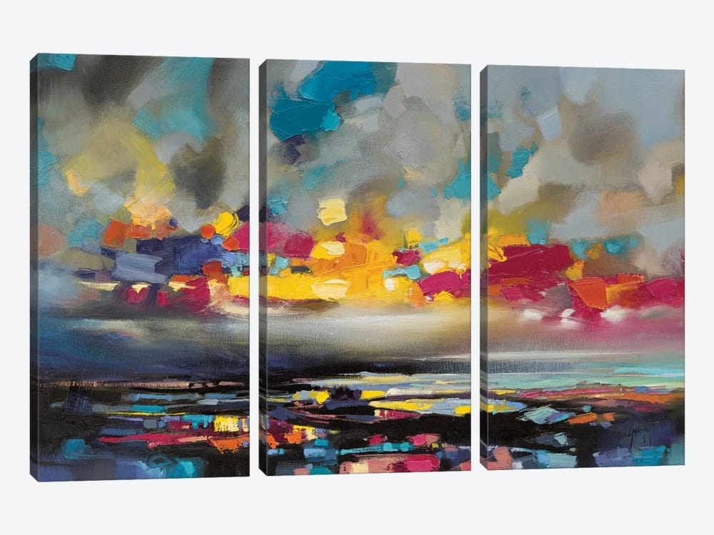 Particles II by Scott Naismith 3-piece Canvas Artwork