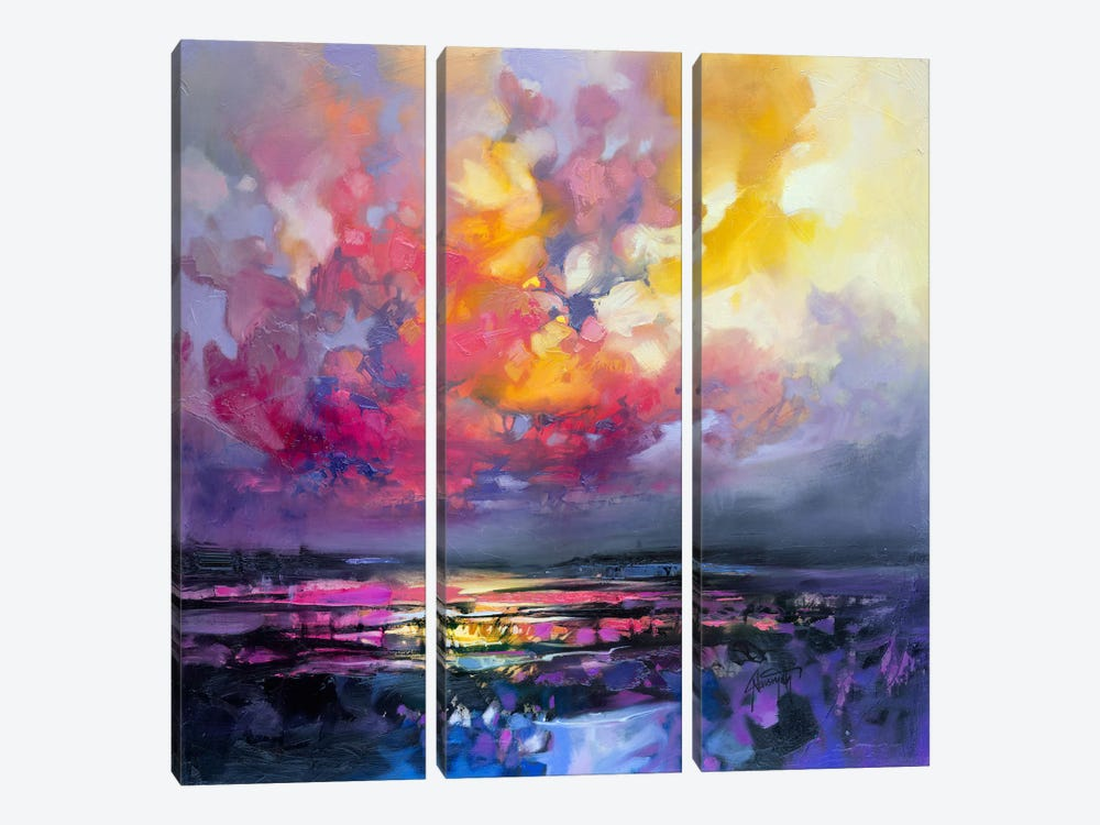 Binding Energy I by Scott Naismith 3-piece Canvas Art Print