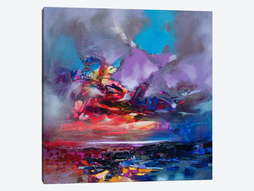 Colour Collision I 1-piece Canvas Wall Art