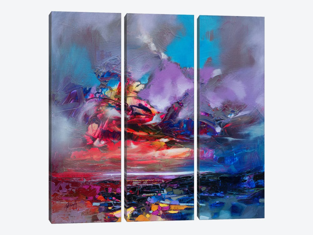 Colour Collision I by Scott Naismith 3-piece Canvas Wall Art