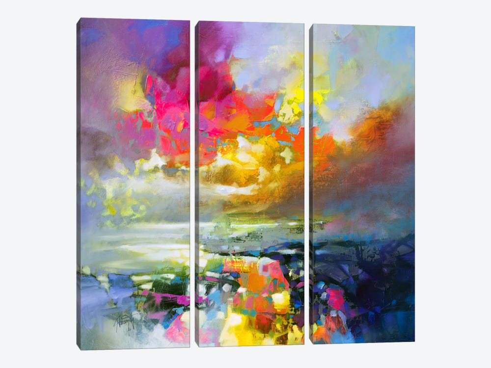 Elements II 3-piece Canvas Art Print