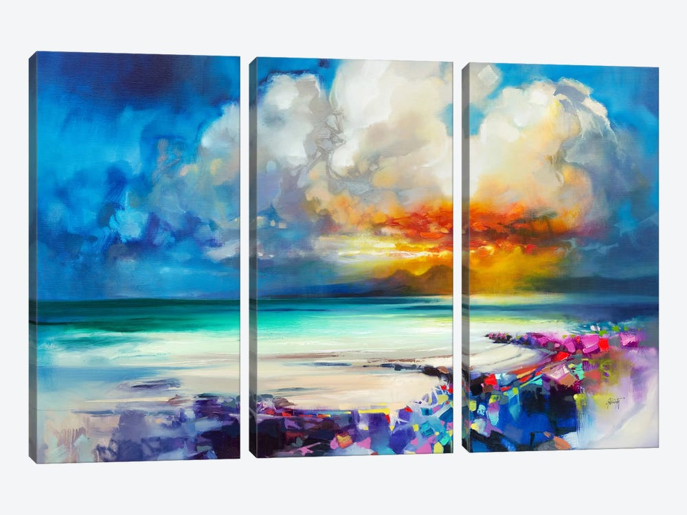 Golden by Scott Naismith 3-piece Canvas Art Print