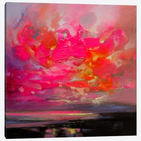 Magenta Plasma Canvas Print #SNH93} by Scott Naismith Canvas Art Print