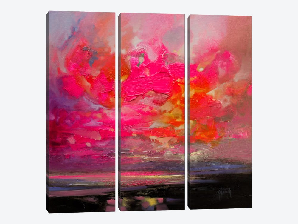 Magenta Plasma 3-piece Canvas Art
