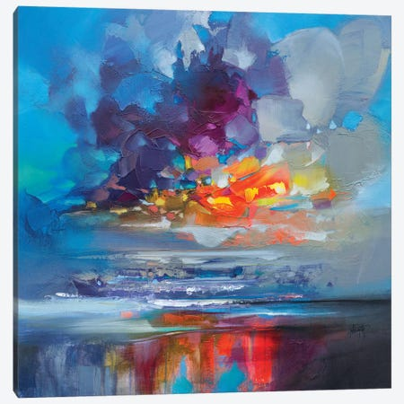 Arisaig Orange Canvas Print #SNH97} by Scott Naismith Canvas Wall Art