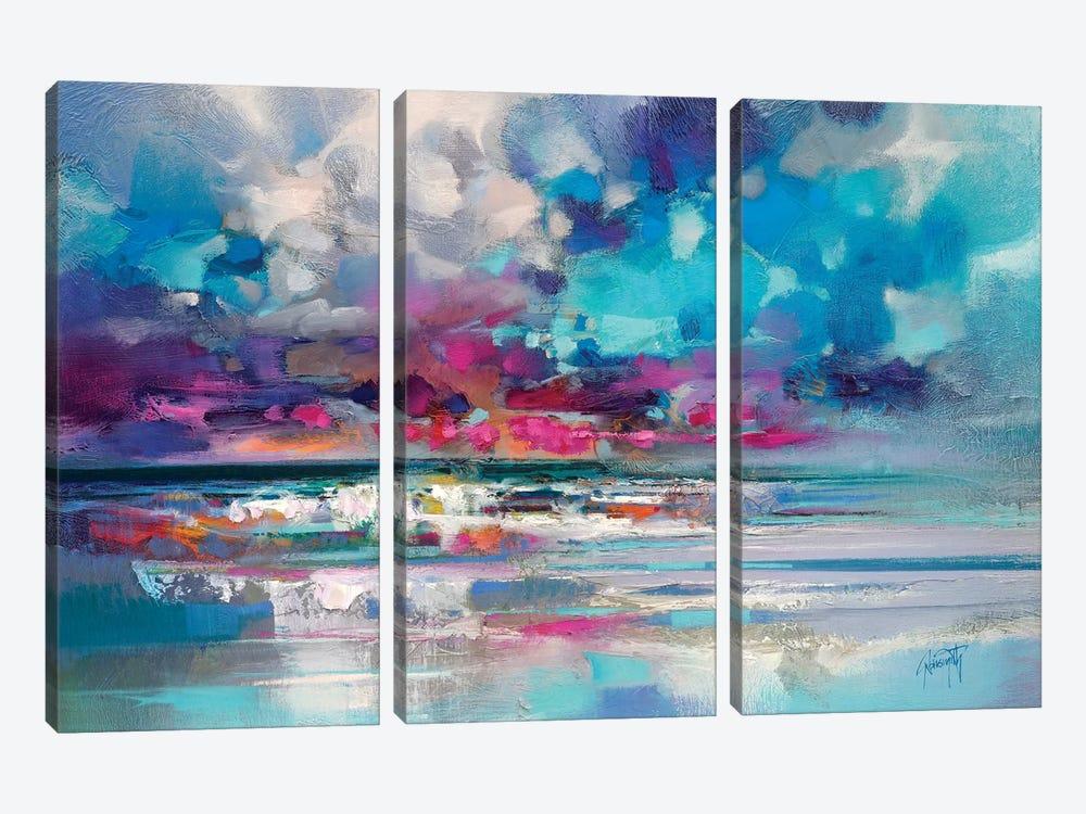 Atlantic Magenta by Scott Naismith 3-piece Canvas Print