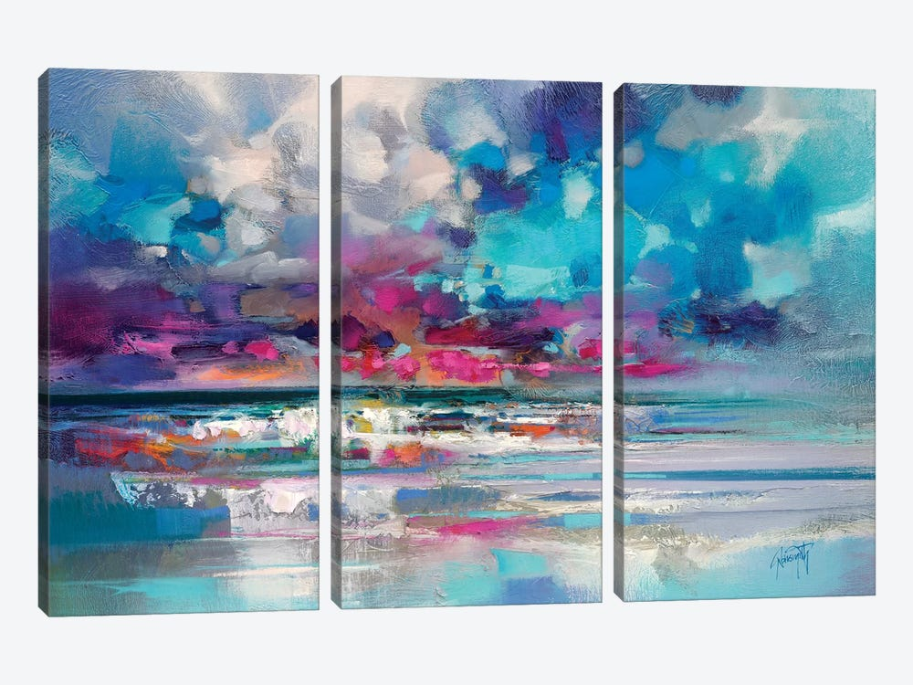 Atlantic Magenta by Scott Naismith 3-piece Canvas Print