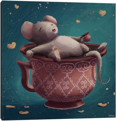 Sleeping Mouse Canvas Art Print