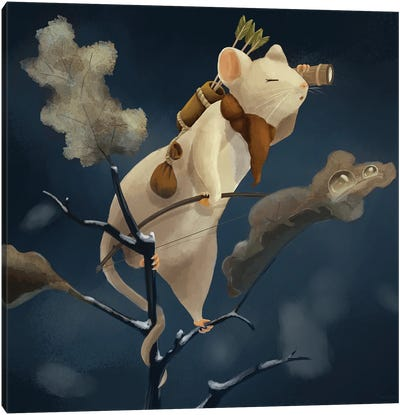 Mouse Scout Canvas Art Print