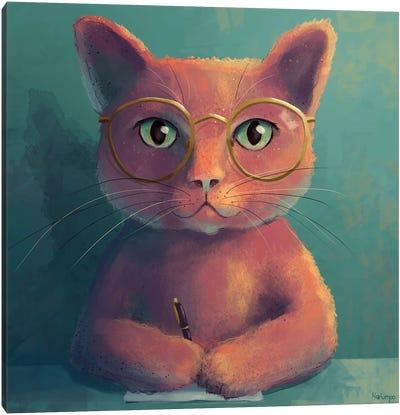 Officecat Canvas Art Print