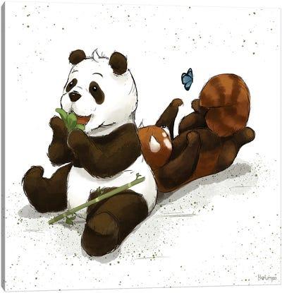 Pandafriends Canvas Art Print