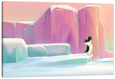 Penguin In The Sunrise Canvas Art Print
