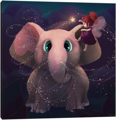 Pink Elephant Canvas Art Print