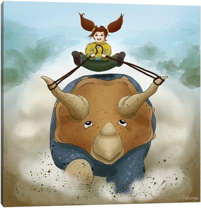 Triceratops Pet Canvas Art Print