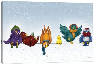 Winterbirds Canvas Art Print