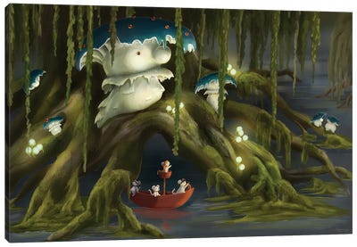 The Mushroom King Canvas Art Print