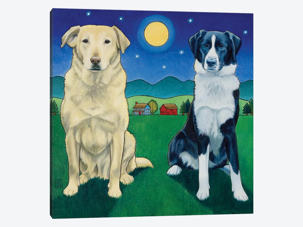 Two Dog Night by Stacey Neumiller 1-piece Canvas Artwork