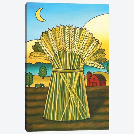 Ward's Wheat Canvas Print #SNM104} by Stacey Neumiller Canvas Art