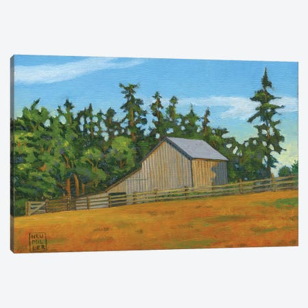 West Beach Barn Canvas Print #SNM105} by Stacey Neumiller Canvas Artwork
