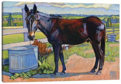 Wetting His Whistle Canvas Art Print