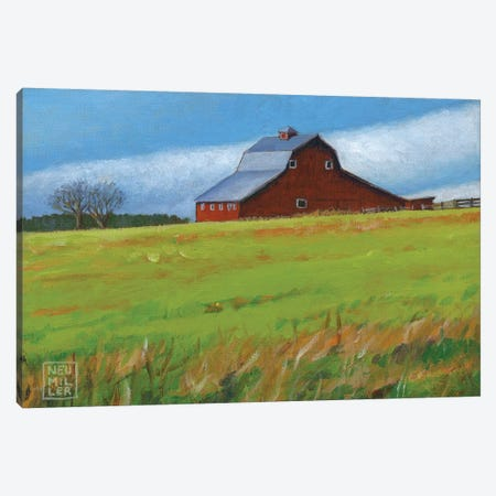 Whidbey Barn II Canvas Print #SNM107} by Stacey Neumiller Canvas Artwork